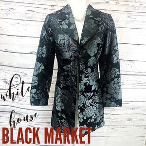 WHBM Black Trench Coat